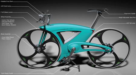 エアロな折りたたみ自転車
