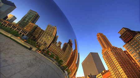 シカゴのメタリックな豆