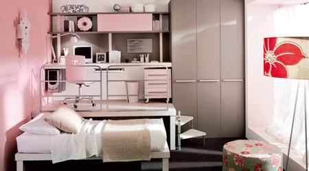 コンパクトなロフトのベッドルーム