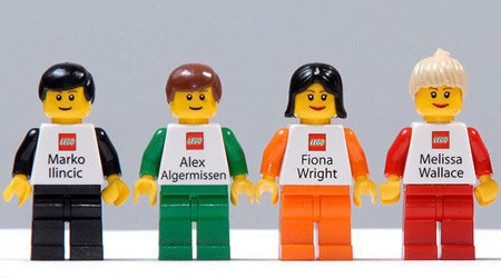 レゴ社のビジネスカード
