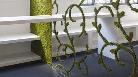 壁紙が植物のエコな家