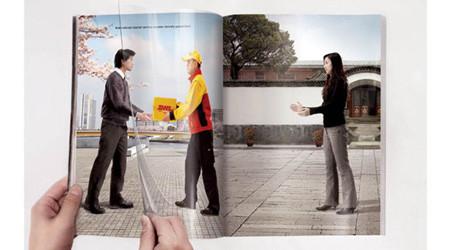 DHLの速さをアピールした広告