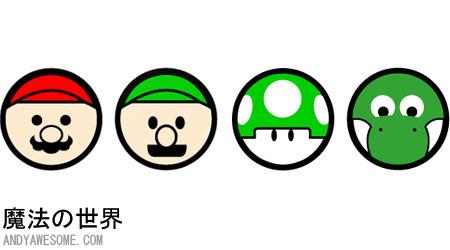 キャラクターがアイコンに変身