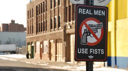 道路標識にもウィットを