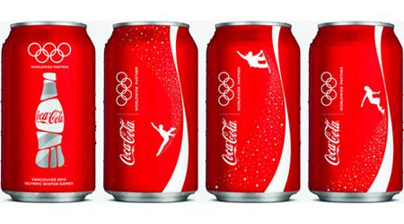 オリンピックデザインのコカ・コーラ