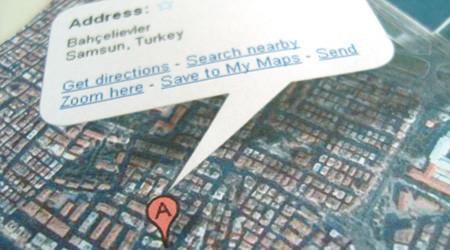 地図をそのまま封筒に