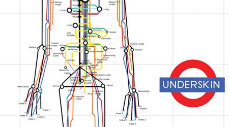 ロンドン地下鉄風の人体図