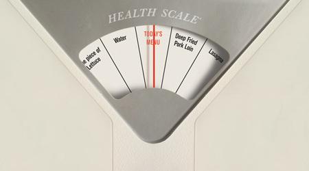 摂るべき食品を教えてくれる体重計