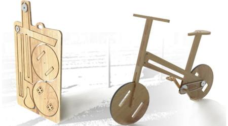 フルフラットで持ち運べる自転車