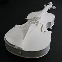 超リアルな楽器のペーパークラフト