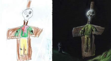 子どもの絵をアートに昇華