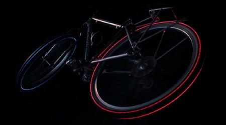 LEDでタイヤが光る自転車