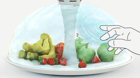 水のバリアでフルーツを守れ