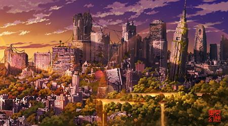 荒れ果てた東京