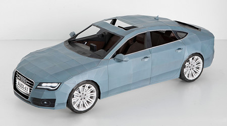 Audi A7のリアルなペーパークラフト