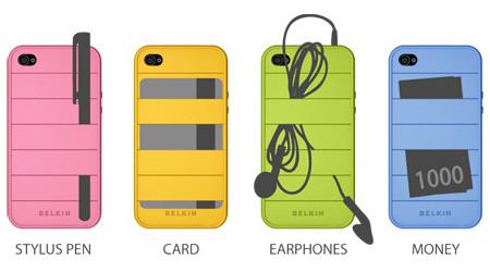 イヤフォンを収納できるiPhoneケース