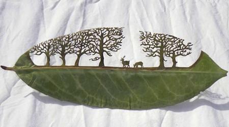 葉っぱアート