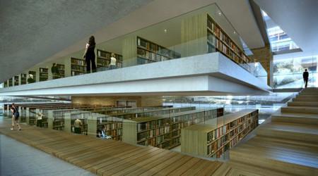 アコーディオンのような図書館