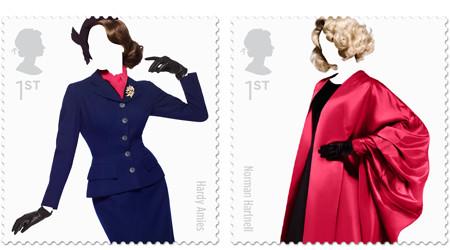 イギリスのファッション史を切手で再現
