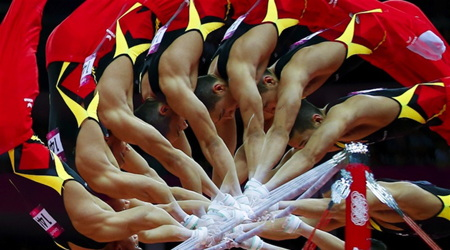 ロンドンオリンピック:美しい体操選手たちの連続写真
