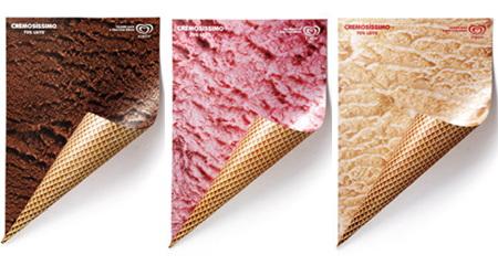 ソフトクリームが絶対に食べたくなるポスター