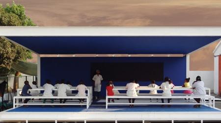 設置が簡単なコンテナ式青空学校
