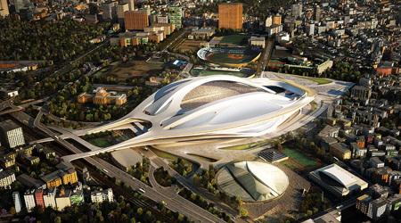 まるで宇宙船?ザハ・ハディド設計の新国立競技場