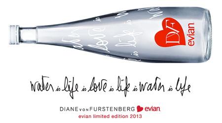 ダイアン・フォン・ファステンバーグがデザインのエビアン