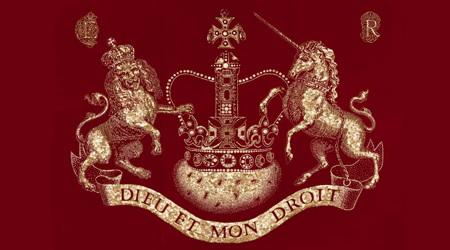ボタンで描かれたイギリス女王陛下