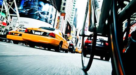 自転車から見たニューヨークの風景