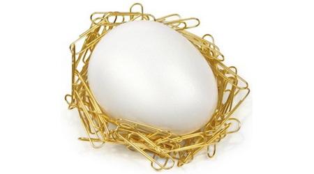 まさに逆転の発想!!卵形の鳥の巣クリップホルダー