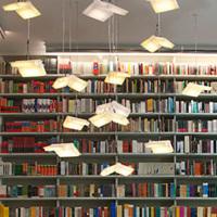 遊び心いっぱいの図書スペース