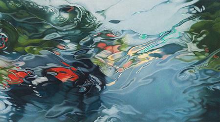 まるで写真 生き生きとした雫を描いた超絶絵画