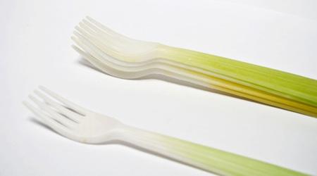 野菜そっくりに作られたカトラリーとボウル