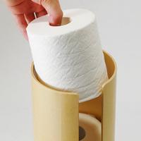 トイレットペーパーを収納する切り株:Eau KIRIKABU