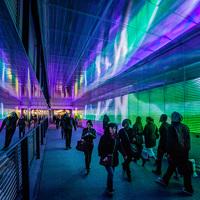 光と音がシンクロした魔法の世界に誘うトンネル