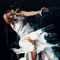 躍動する美しい肉体を切り取った絵画