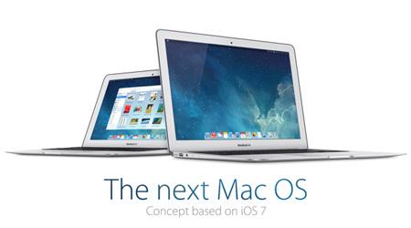 Mac OSをiOS 7風にデザインしてみると…