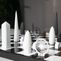 3Dプリントでロンドンの有名建築がチェスになりました