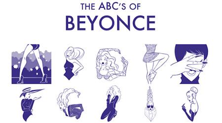 ビヨンセの全身で表現しているタイポグラフィ