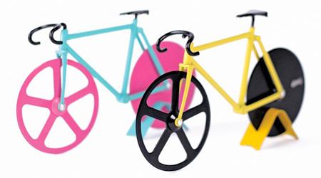 自転車型のピザカッター