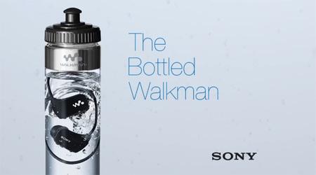 防水性能をアピールするウォークマンのパッケージデザイン