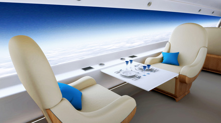 窓の代わりに全面液晶ディスプレイのジェット機:S-512