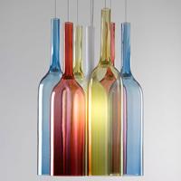ボヘミアンガラスの3色ランプシェード