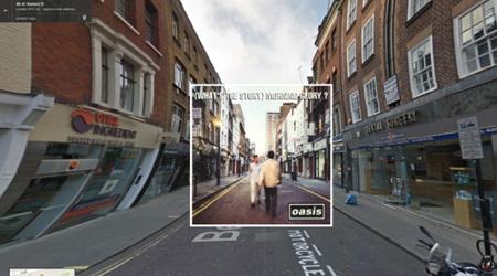 有名なアルバムのジャケットをGoogleストリートビューと合成