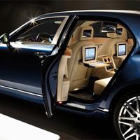 iPadの豪華な移動式オフィス: Bentley Mulsanne