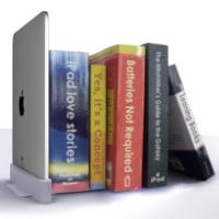iPadがブックエンドに変身
